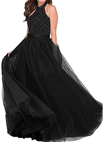 Brautmutterkleider La Rot Marie Abendkleider Langes Schwarz Promkleider Perlen Abschlussballkleider Dunkel Braut CCTOq