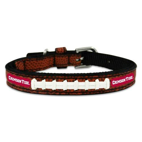 NCAA Alabama Crimson Tide Classic Leather Football Collar, Toy