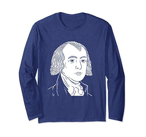 Unisex James Madison Portrait Long Sleeve Shirt Gift 2XL Navy