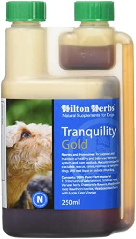 Hilton Herbs Tranquility Gold Calming Herbal Supplement for Dogs 0.5pt 250 ml Bottle
