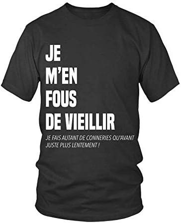TEEZILY T-Shirt Homme Je m'en …