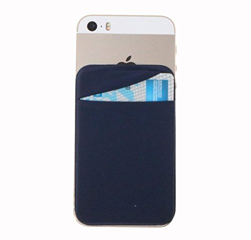 - Magic Vosom Card Secure Holder Stick on Lycra Wallet Pouch Support iPhone Samsung Galaxy and Blu Smartphones Blue