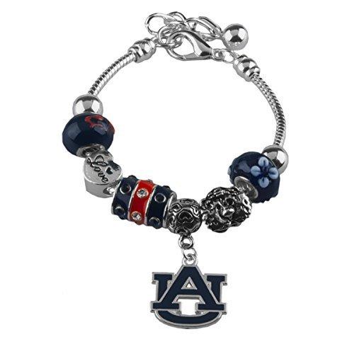 Sandol Auburn Tigers Love Charm Bracelet