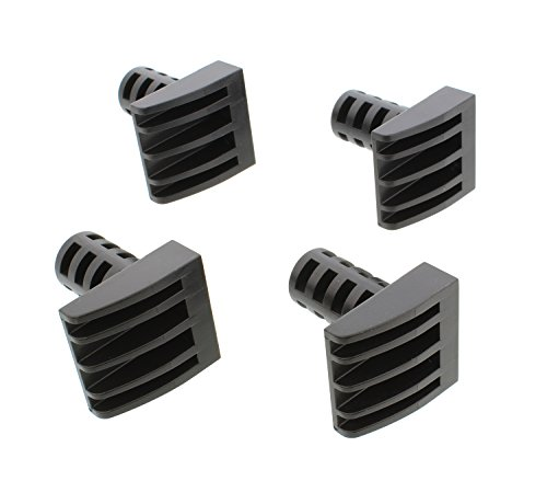DCT Woodworking Plastic Bench Dogs 4-Pack - Workbench Peg Brake Stops for 3/4in Holes in 1/2in or Thicker Material