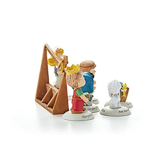 Hallmark 2014 Glad Tidings Nativity Peanuts Gallery Figurines - Set of 7 - XKT2422]()