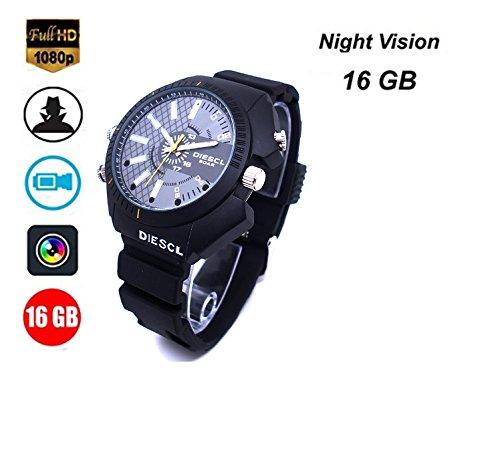 16Gb Hd 1080P Night Vision Waterproof Watch Camera - 5