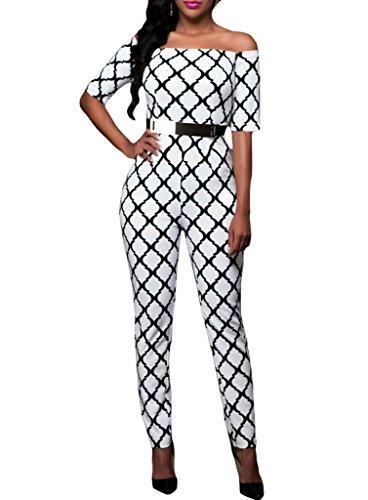 Sidefeel Shoulder Sleeves Printed Jumpsuit