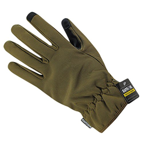 RAPDOM Tactical Soft Shell Winter Gloves, Coyote, Medium by RAPDOM