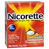 NICORETTE GUM CINNAMON 2MG Pack of 100 by SMITHKLINE BEECHAM ***