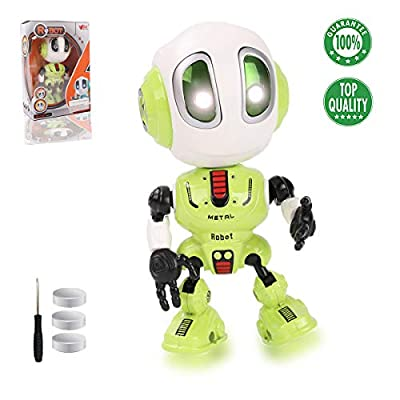 TTOUADY Robot Toys for Kids, Talking Robots Educational Toy for 3 4 5 6+ Year Old Boys Girls, LED Eyes, Interactive Voice and Touch Sensitive Flexible Robots Gift
