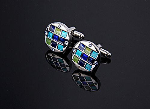 Men's Silver Polished Cufflink and Tie Clip Set in Gift Box -Personalized Men's Cufflink Gift Set Photo #4