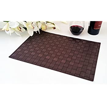 place mats washable table mats heat resistant non slip placemat dining placemats pvc table mat for dining table set of 6 vinyl kitchen placemats - Kitchen Table Mats