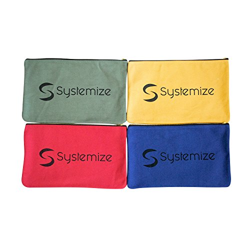 Zipper Tool Bags - 4 pack, Extra Large 13