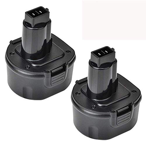 - 2 Packs 9.6V 3600mAh Ni-Mh Replace for Dewalt 9.6 Volt Battery DW9062 DW9061 DW926 DC750KA DW955K DW955 DW926K-2 DW926K DW902 DW050 DE9062 DE9061 DE9036 DW955K-2 DW050K Cordless Power Tools