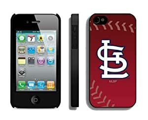 Cheap Iphone 4s Cover MLB St Louis Cardinals Personalized Athletic Iphone 4 Cellphone Proective Case