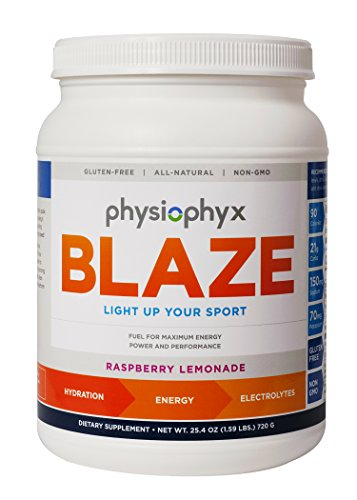 PhysioPhyx Blaze Endurance Drink Mix – Rapid Hydration Pre Workout Sport Hydration Drink Mix and Electrolyte Powder for Maximum Energy and Maximum Performance. Raspberry Lemonade, 2 lb, 30 Servings