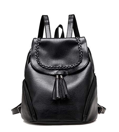 à Fête Sacs AalarDom fourre Noir Noir Frange Mode TSFBG182231 Femme bandoulière Tout Sacs PU Cuir La qqwPzX4