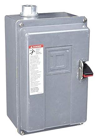 Square d push button manual motor starter, enclosure nema rating.