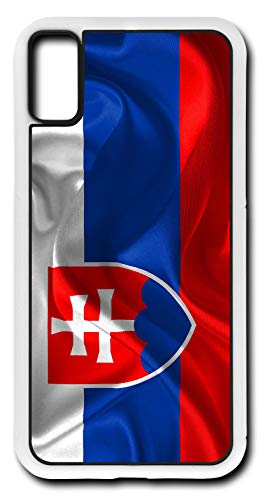(iPhone X Case Slovakia Country Flag Coat of Arms Slovak Nation Customizable by TYD Designs in White Plastic)