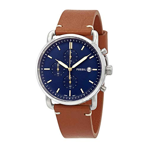 mmuter' Quartz Stainless Steel and Leather Casual Watch, Color:Brown (Model: FS5401) ()