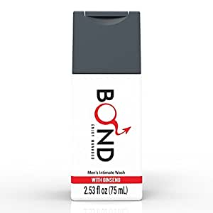 BOND Masculine Wash Men's Intimate Wash 2.5 Fl. Oz. (75mL) Hygiene Care Products for Men (Ginseng Care-Red)