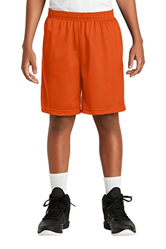 Sport-Tek Boys' PosiCharge Classic Mesh Short XS Deep Orange