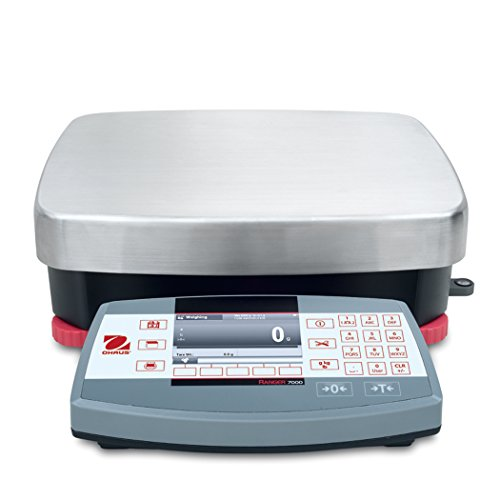 Ohaus R71MD35 Die Cast/Stainless Steel Ranger 7000 Compact Bench Scale, 35 kg Capacity, 0.001 lb. Readability