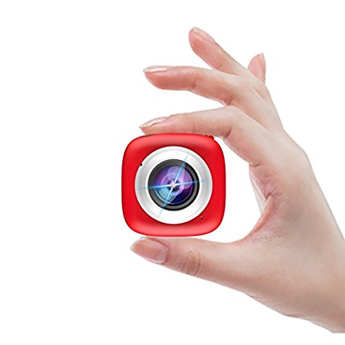 Sport Action Camera - Elecwave EW-SC02 Stick Anywhere Selfie Sport Camera Multi-Functional APP Remote Control DV Recorder Suitable for Indoor and Outdoor Use, Red