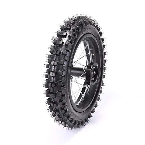 Rear 1.8512 80/100-12 Tire Rim Set Disc Brake 12mm Axle Pitpro Atomik DHZ by HML MOTOR (Image #7)