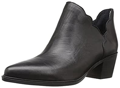 Blue by Betsey Johnson Women's Keeley Ankle Bootie, Black Leather, 8 M US