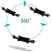 Leoie FPV Camera RC Quadcopter Drone with Live Video - Flexible Foldable Aerofoils App and Wifi Phone Control UAV 6-Axis Gyro Gravity Sensor RTF Helicopter Toys for Boys Black