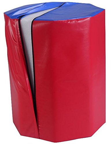 """K&A Company Octagon Skill Shape Exercise Gymnastic Mat Fitness Foam Trainers Practice 25 """" x 30"""" Red"""