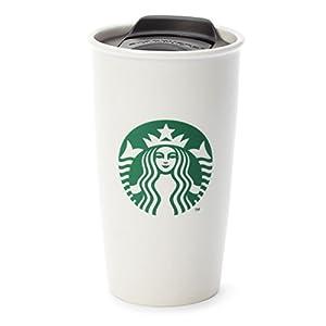 Amazon Com Starbucks Double Wall Ceramic Traveler 12 Fl Oz Tumblers Coffee Cups Amp Mugs
