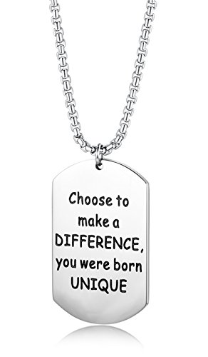 LOYALLOOK Difference Pendant Necklace Inspirational product image