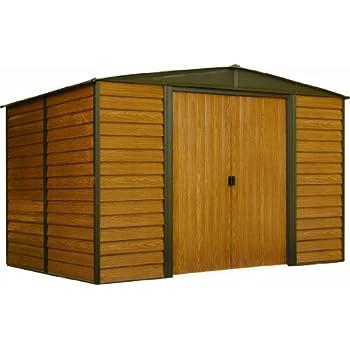 Arrow WR108 Steel Storage Shed, 10 X 8u0027, Coffee