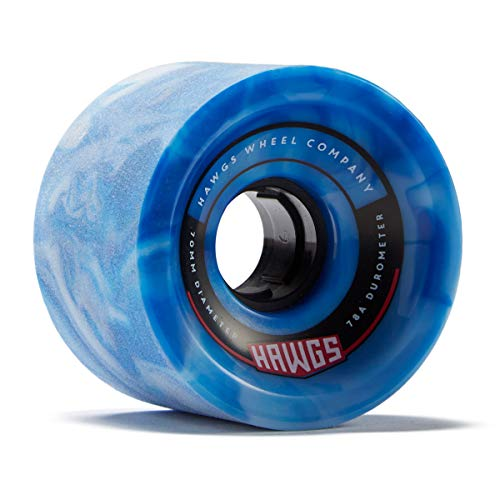 Hawgs 70's Hawgs Longboard Wheels - 70mm 78a - Blue/White (Hawg Wheels)