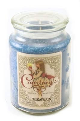 Courtney's Candles CHINA RAIN Maximum Scented 26oz Large Jar Candle - Burns 200 - China Candle