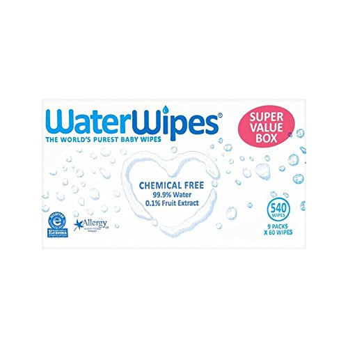 WaterWipes Super Value Pack Sensitive Baby Wipes 9 x 60 per pack (Pack of 6) - (WaterWipes) スーパーバリューパック敏感な赤ちゃんは、パックあたり9×60ワイプ (x6) [並行輸入品] B01LX07AZ8