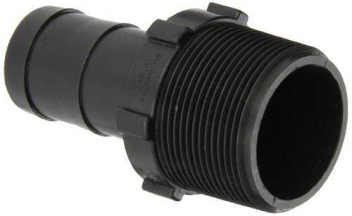Barbed Hose Adapter - Banjo HB150-125 Polypropylene Hose Fitting, Adapter, 1-1/2