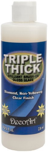 (DecoArt TG01-9 Triple Thick Gloss Glaze, 8-Ounce Triple Thick Gloss Glaze)