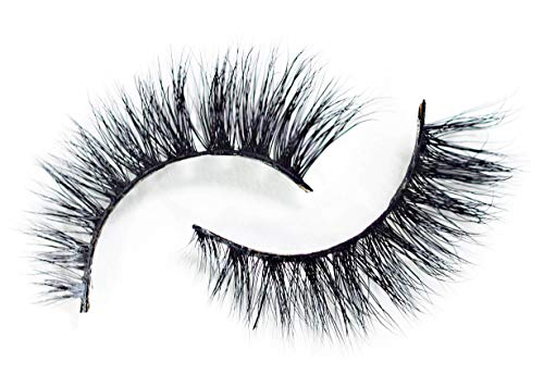 Rée Beauty Ree False Eyelashes 3D 100% Siberian Mink Strip Lashes Handmade Cruelty-Free Single Pair ()