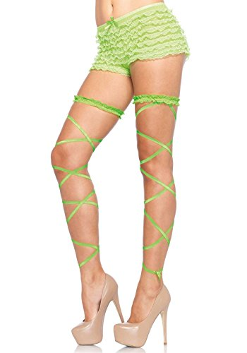 Leg Avenue Women's Leg Wraps, Neon Green, One Size