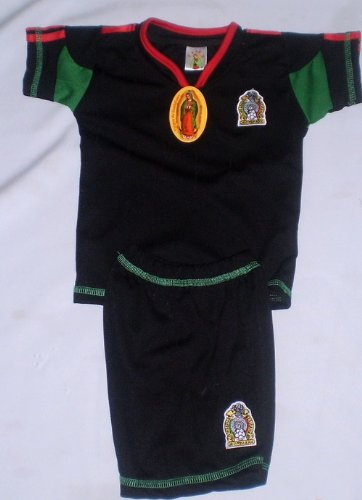 506bd7c93 Amazon.com: Virgin BABY, INFANT, TODDLERS, KIDS MEXICO BLAK SOCCER SCET  JERSEY AND SHORTS SIZE 4: Sports & Outdoors