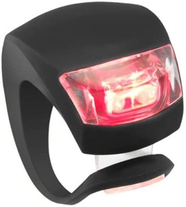 Silicone Bicycle Bike Cycle Safety LED Head Front Rear Tail Light Lamp