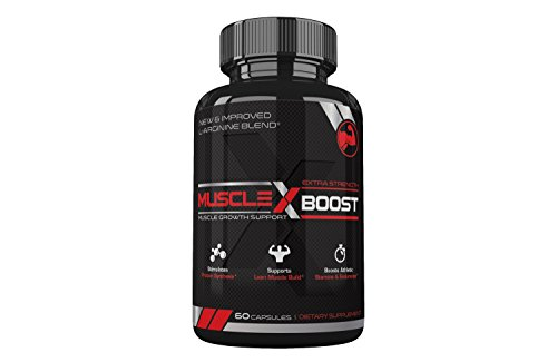 Best Selling Muscle X Boost Premium L Arginine Formula Extra Strength Muscle Growth Support Nitric Oxide Booster Build Lean Muscle Stimulates Protein Synthesis Boost Endurance