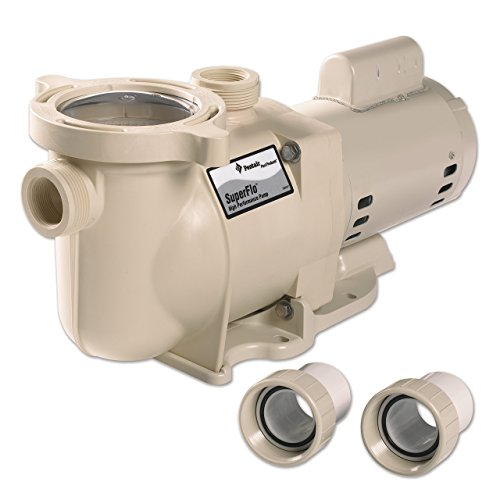 Pentair 340040 SuperFlo High Performance Single Speed Pool Pump, 2 Horsepower, 115/230 Volt, 1 Phase