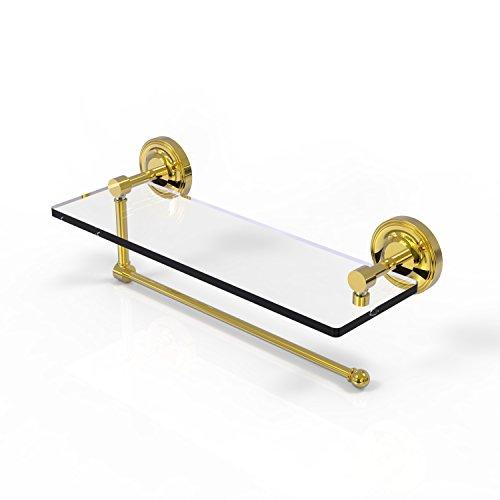 Allied Brass Prestige Regal Collection Paper Towel Holder with 16 Inch Glass Shelf PRBP-1PT/16 - Unlacquered -