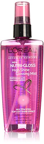 - L'Oréal Paris Advanced Haircare Nutrigloss High Shine Glossing Mist, 3.4 fl. oz. (Packaging May Vary)