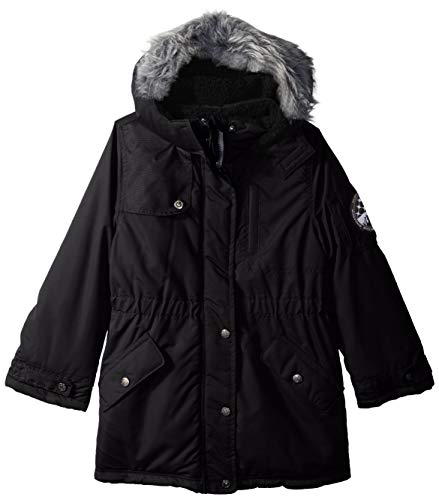 Big Chill Girls' Little Long Expedition Jacket, Black, 4