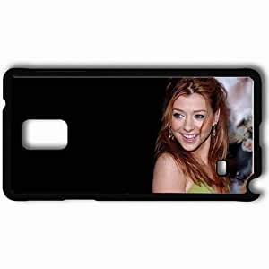 taoyix diy Personalized Samsung Note 4 Cell phone Case/Cover Skin Alyson Hannigan Black